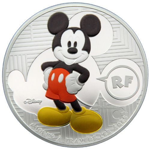 "10 Euro Frankreich 2016 ""Mickey Maus"" coloriert PP"