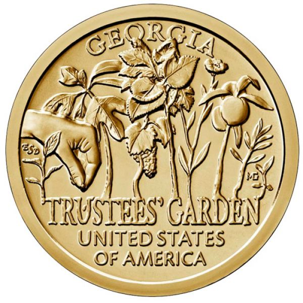 "USA 1 Dollar 2019 ""American Innovation - Trustee's Garden"""