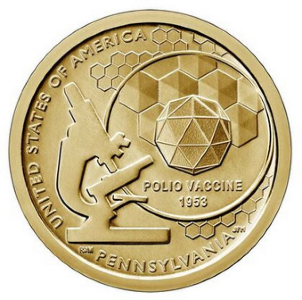 "USA 1 Dollar 2019 ""American Innovation - Polio-Impfung"""