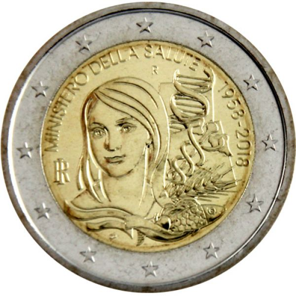 Münzmeisterei 2 Euro Italien 2018 Gesundheitsministerium
