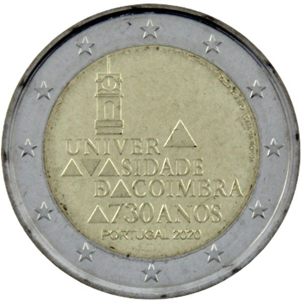 "2 Euro Portugal 2020 ""Universität Coimbra"""