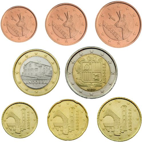 "KMS Andorra 2015 ""1 Cent - 2 Euro"" lose"