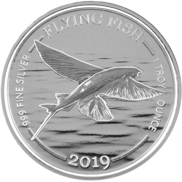 1 Oz Silber - Barbados - Flying Fish 2019