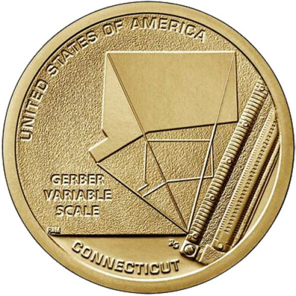 "USA 1 Dollar 2020 ""American Innovation - Gerber Skala"""