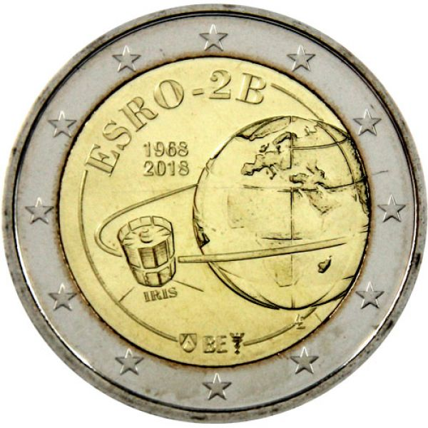 "2 Euro Belgien 2018 ""Satellit ESRO-2B"" lose"