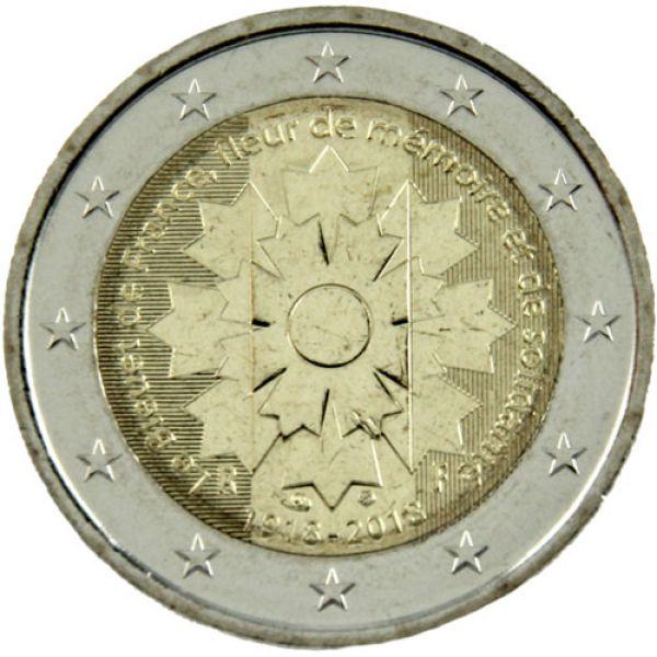 Münzmeisterei 2 Euro Frankreich 2018 Kornblume
