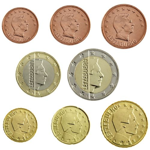 "KMS Luxemburg 2011 ""1 Cent - 2 Euro"" lose"