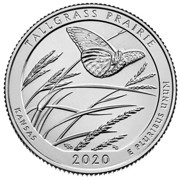 "USA 1 Quarter 2020 ""Tallgrass Prairie"""