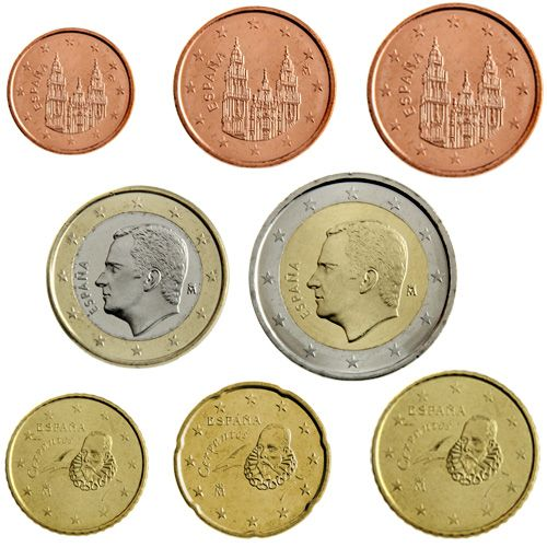 "KMS Spanien 2015 ""1 Cent - 2 Euro"" lose"