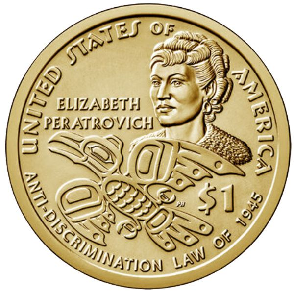"USA 1 Dollar 2020 ""Native American - Elisabeth Peratrovich"""