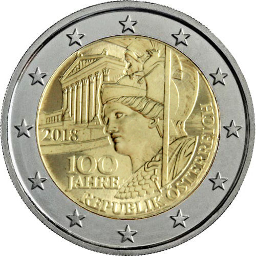 Münzmeisterei 2 Euro österreich 2018 100 Jahre Republik