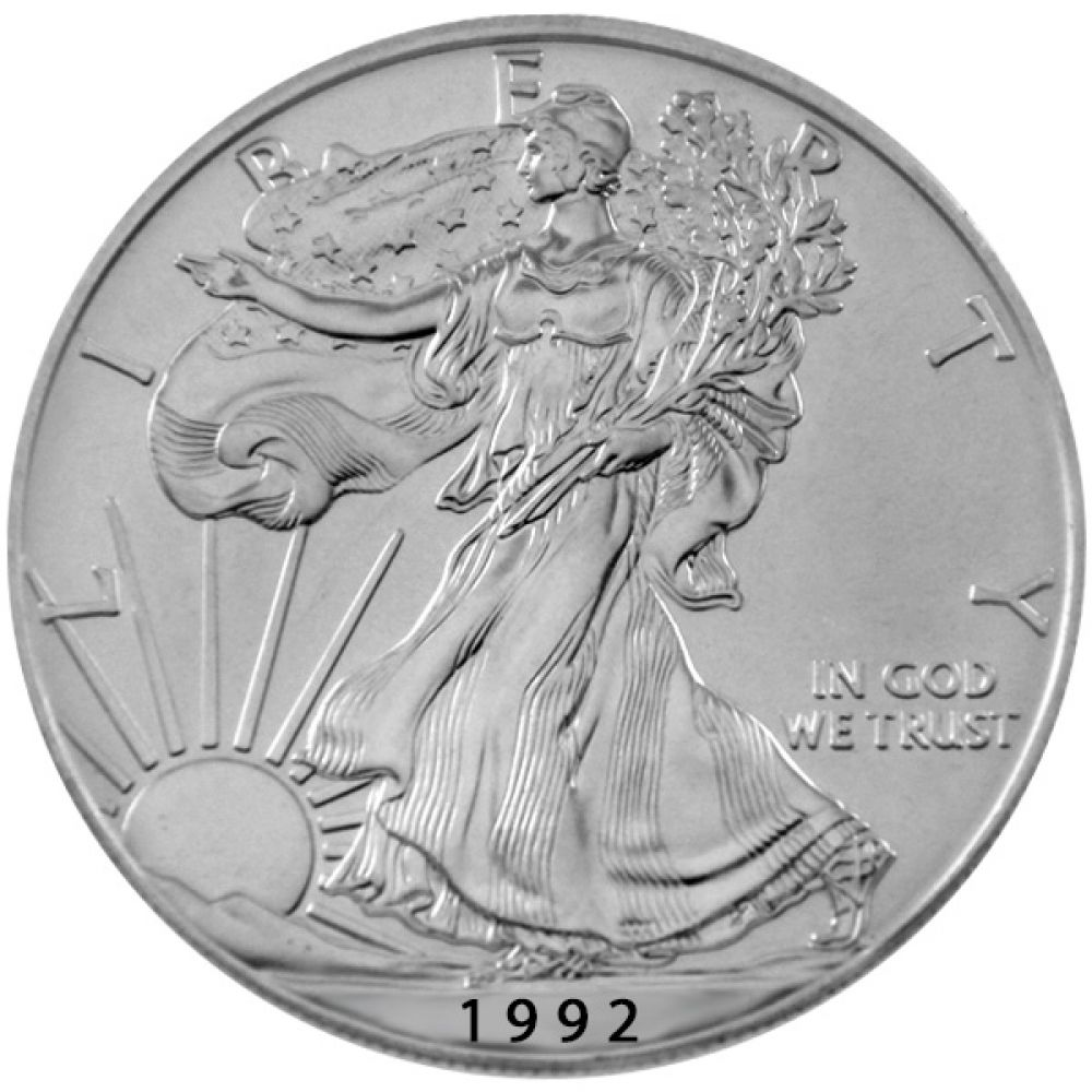 1 Oz Silber - USA - American Eagle 1992